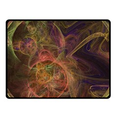 Abstract Colorful Art Design Double Sided Fleece Blanket (small)