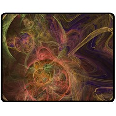 Abstract Colorful Art Design Double Sided Fleece Blanket (medium)