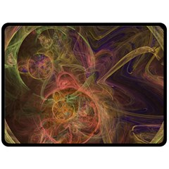Abstract Colorful Art Design Double Sided Fleece Blanket (large)