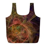 Abstract Colorful Art Design Full Print Recycle Bag (L) Front