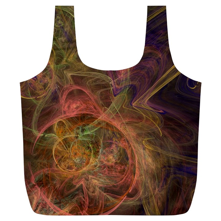 Abstract Colorful Art Design Full Print Recycle Bag (XL)
