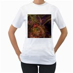 Abstract Colorful Art Design Women s T-Shirt (White)  Front