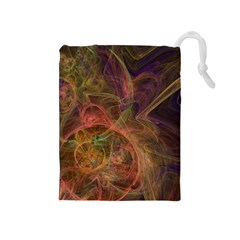 Abstract Colorful Art Design Drawstring Pouch (medium)