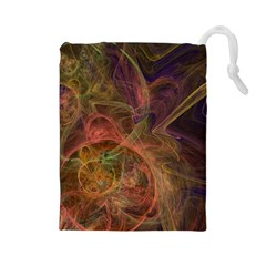 Abstract Colorful Art Design Drawstring Pouch (large)
