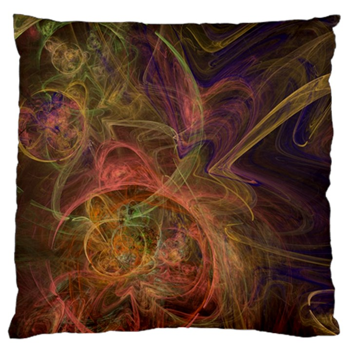 Abstract Colorful Art Design Large Flano Cushion Case (One Side)