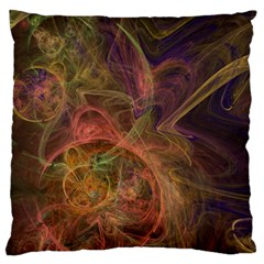 Abstract Colorful Art Design Large Flano Cushion Case (two Sides)