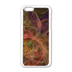 Abstract Colorful Art Design Apple Iphone 6/6s White Enamel Case