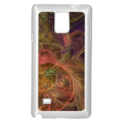 Abstract Colorful Art Design Samsung Galaxy Note 4 Case (white)