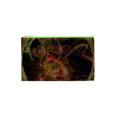 Abstract Colorful Art Design Cosmetic Bag (xs)