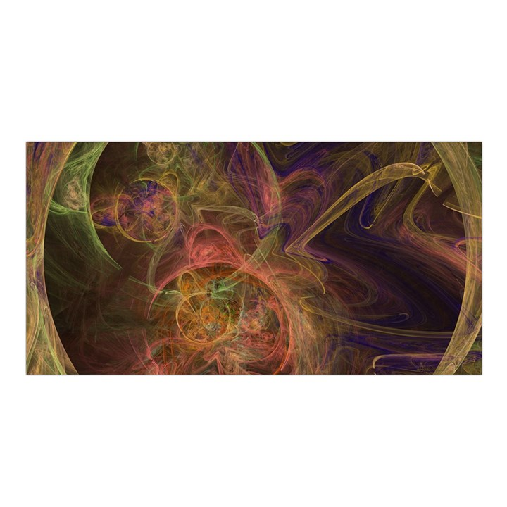 Abstract Colorful Art Design Satin Shawl