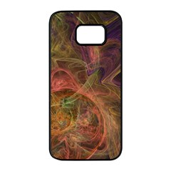 Abstract Colorful Art Design Samsung Galaxy S7 Edge Black Seamless Case