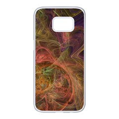 Abstract Colorful Art Design Samsung Galaxy S7 Edge White Seamless Case
