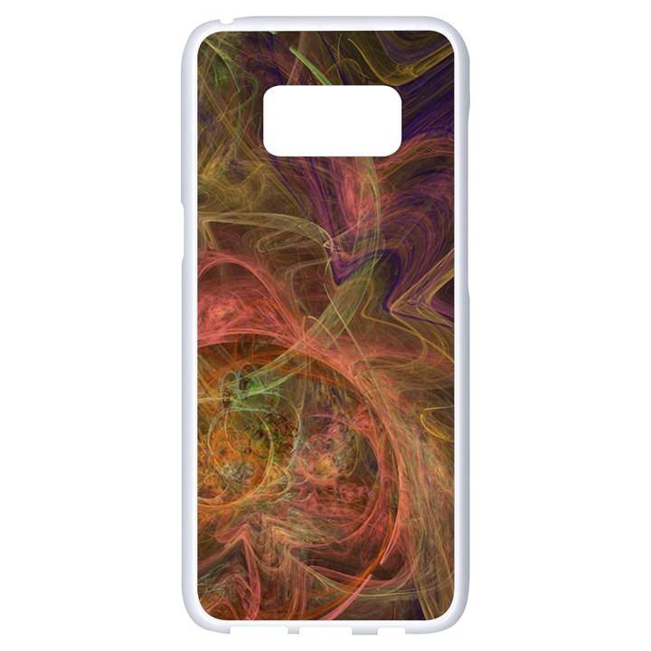 Abstract Colorful Art Design Samsung Galaxy S8 White Seamless Case