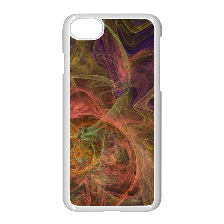 Abstract Colorful Art Design Apple iPhone 8 Seamless Case (White)