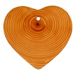 Rings Wood Line Ornament (Heart) Front