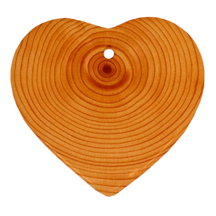 Rings Wood Line Ornament (Heart)