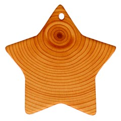 Rings Wood Line Ornament (star)