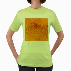 Rings Wood Line Women s Green T Shirt