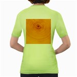Rings Wood Line Women s Green T-Shirt Back