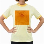 Rings Wood Line Women s Fitted Ringer T-Shirt Front