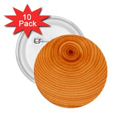 Rings Wood Line 2 25  Buttons (10 Pack)