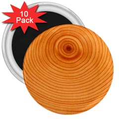 Rings Wood Line 3  Magnets (10 Pack)