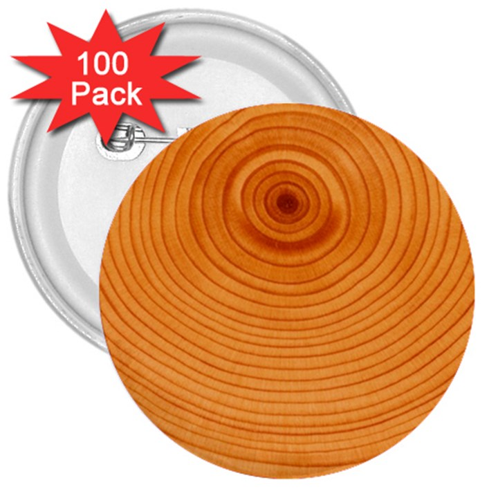 Rings Wood Line 3  Buttons (100 pack)