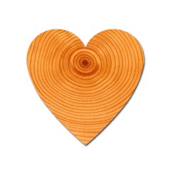 Rings Wood Line Heart Magnet by Alisyart
