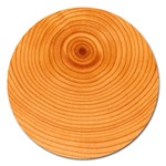 Rings Wood Line Magnet 5  (Round) Front