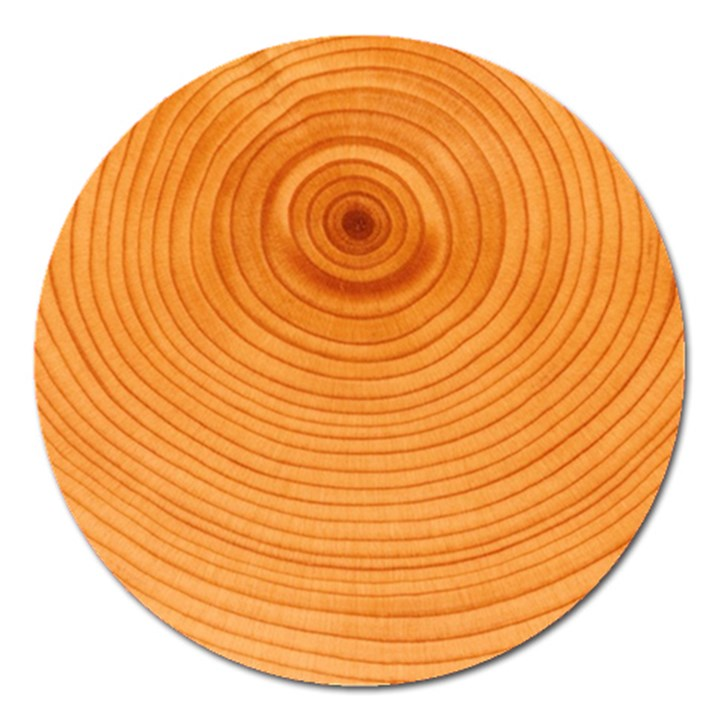 Rings Wood Line Magnet 5  (Round)