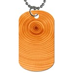 Rings Wood Line Dog Tag (One Side) Front
