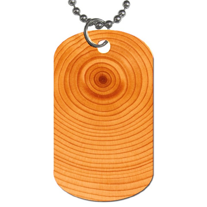 Rings Wood Line Dog Tag (One Side)