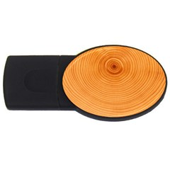 Rings Wood Line Usb Flash Drive Oval (2 Gb)