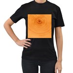 Rings Wood Line Women s T-Shirt (Black) (Two Sided) Front