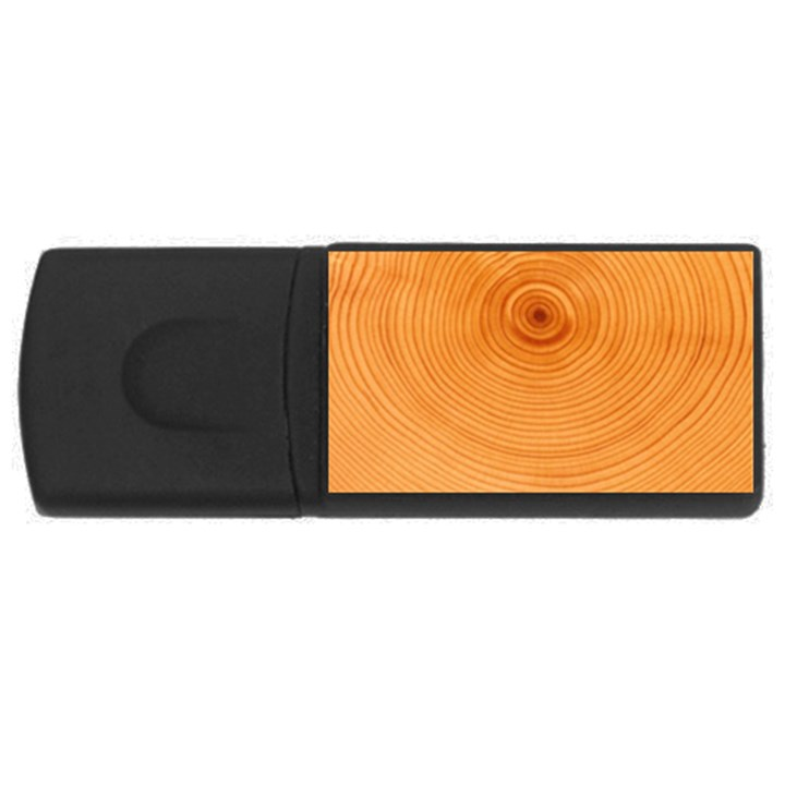 Rings Wood Line Rectangular USB Flash Drive
