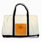Rings Wood Line Two Tone Tote Bag Front