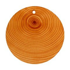 Rings Wood Line Round Ornament (two Sides)