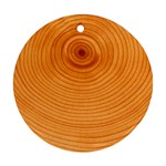 Rings Wood Line Round Ornament (Two Sides) Back