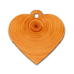 Rings Wood Line Dog Tag Heart (one Side)