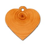 Rings Wood Line Dog Tag Heart (One Side) Front