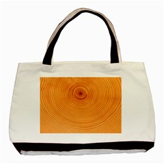 Rings Wood Line Basic Tote Bag (two Sides)