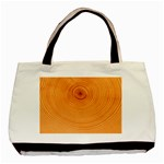 Rings Wood Line Basic Tote Bag (Two Sides) Back