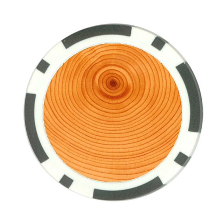 Rings Wood Line Poker Chip Card Guard