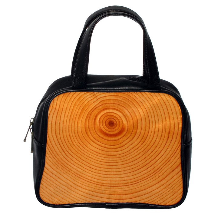 Rings Wood Line Classic Handbag (One Side)
