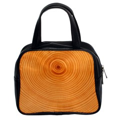 Rings Wood Line Classic Handbag (two Sides)