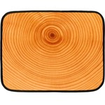 Rings Wood Line Fleece Blanket (Mini) 35 x27 Blanket