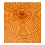Rings Wood Line Shower Curtain 66  x 72  (Large)  58.75 x64.8 Curtain