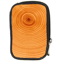 Rings Wood Line Compact Camera Leather Case by Alisyart