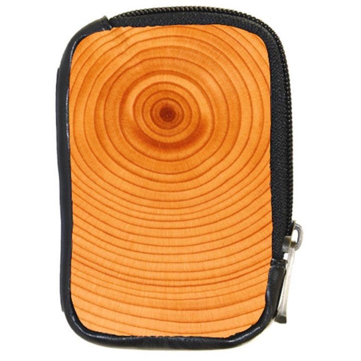 Rings Wood Line Compact Camera Leather Case
