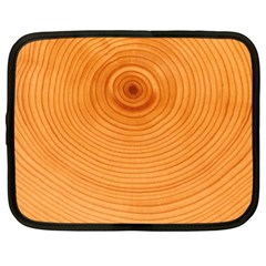 Rings Wood Line Netbook Case (xl) by Alisyart
